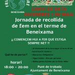 Proyecto medioambiental: Jornada de recogida de basura en el termino municipal de Beneixama.