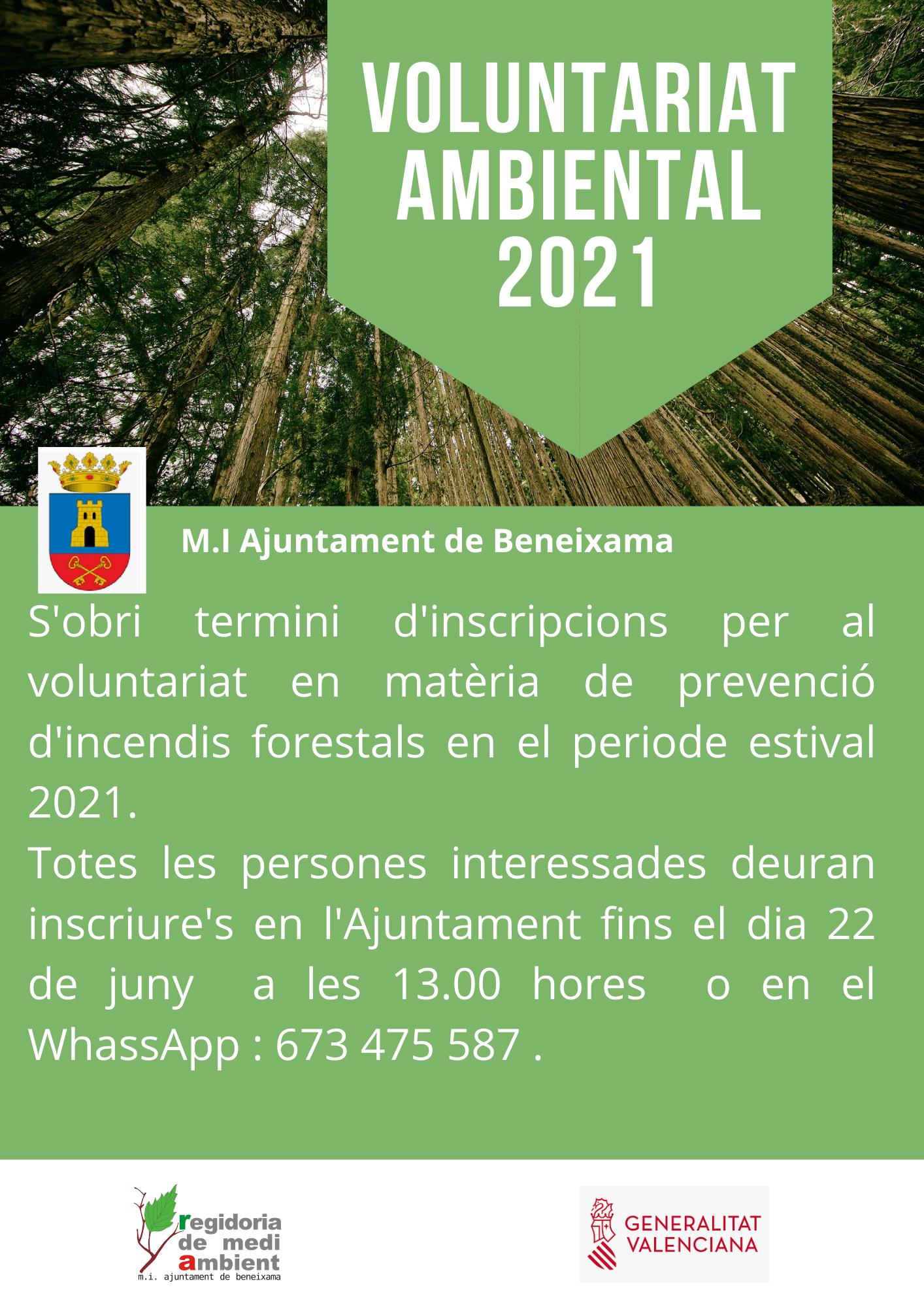 Voluntariat ambiental 2021.